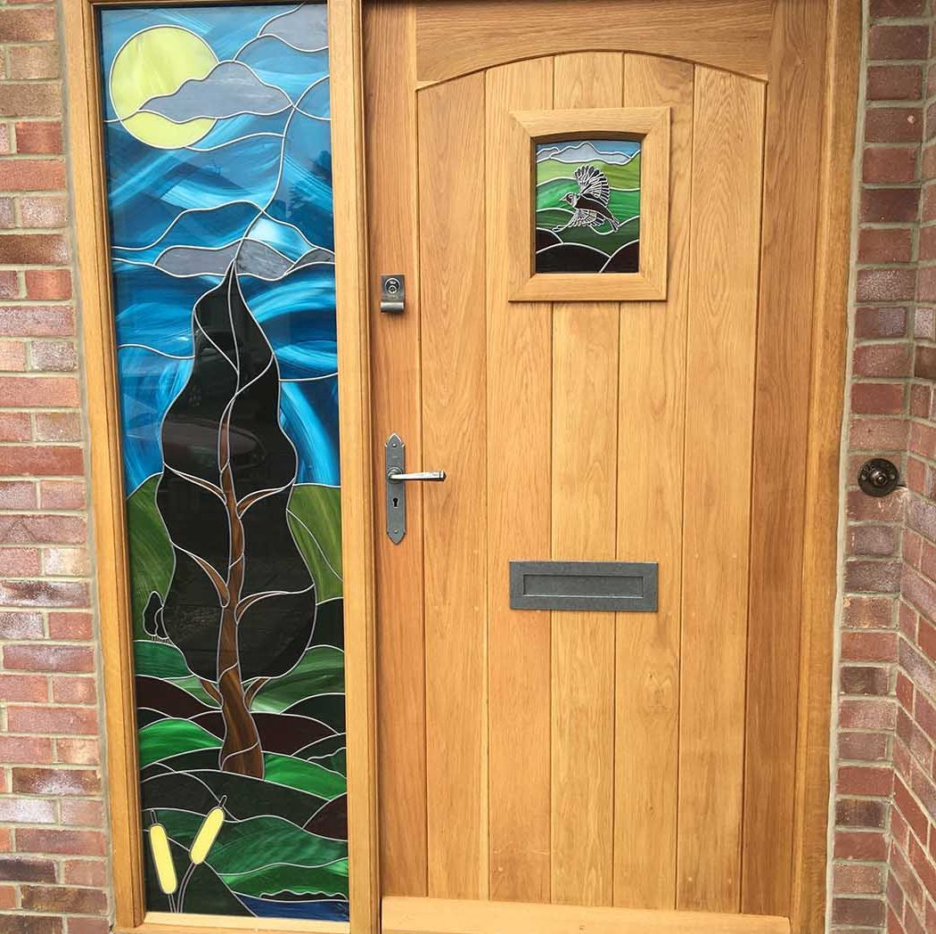wooden door installation